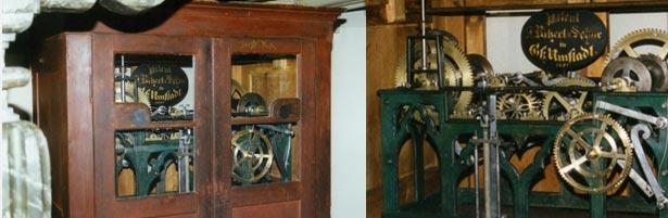 Historische Turmuhrwerk der Werkstatt Ritzert & Söhne