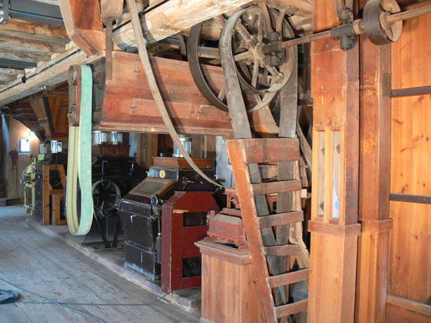Erdgeschoss der Mühle - der sogenannte Walzenboden