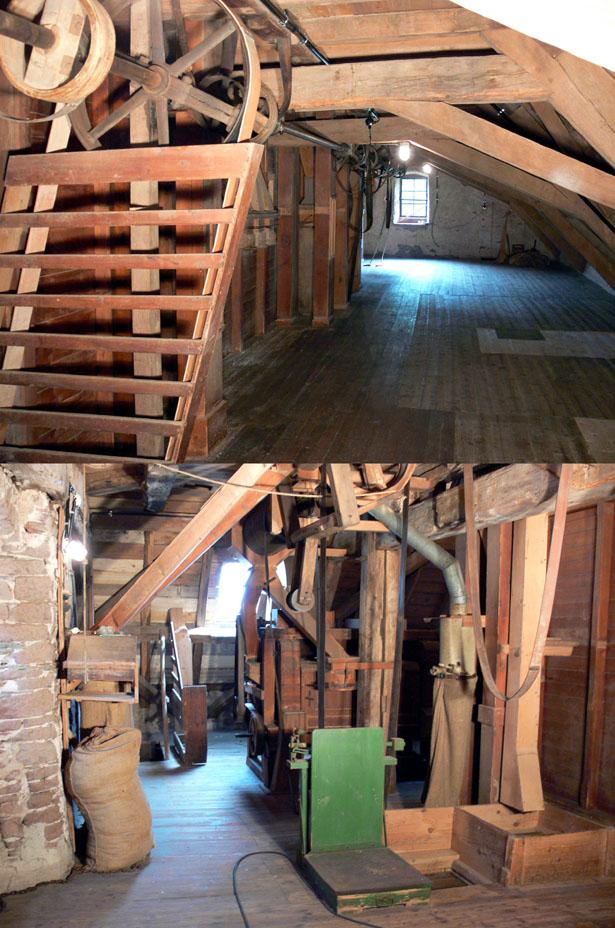 Erstes Obergeschoss der Mühle - der sogenannte Rohrboden