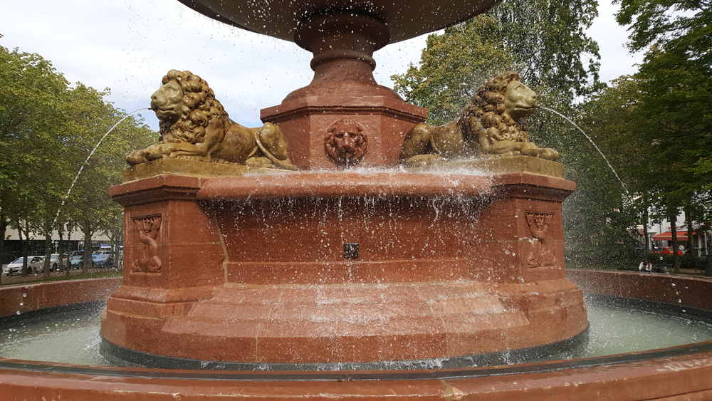 Restaurierung Löwenbrunnen auf dem Mathildenplatz, Darmstadt